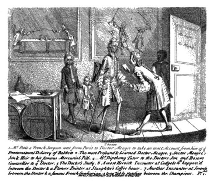 Сэнт-Андрэ встречает французского хирурга, присланного для изучения дела Мэри Тофт.